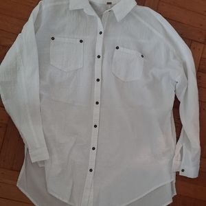Free people womans oversized  button down